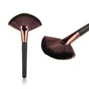 AMA(TM) Large Fan Face Blush Powder Foundation Brush Cosmetic Makeup Brushes Tool