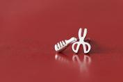 comb & scissor Authentic sterling silver earring silver stud earring jewellery