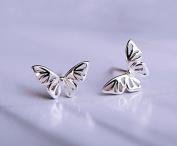 hollow butterfly 925 sterling silver stud earring for wedding jewellery luxury women luxury lovely cute lady girl silver earring