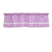 Purple Tailored Window Valance by The Peanut Shell - 100% Cotton Sateen