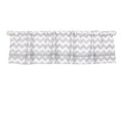 Grey Chevron Print Window Valance by The Peanut Shell - 100% Cotton Sateen