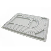 Bead Stringing Board Grey Flocked Trays Design in Beading Board, Craft Hobby Tool, 90cm 3-Channel