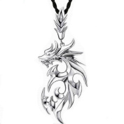 Joinor Retro Titanium Steel Men's Flame Dragon Necklace