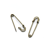 20 PCS Satety Pin Clips Rust Proof Large Oversized Metal Pinned Dress
