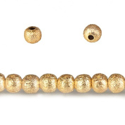 2.5mm 14kt Gold plated brushed round Beads 100 pieces 8 inch