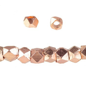 2mm Rose Gold plated Plain Faceted Nugget Bead 8 inch 84 beads