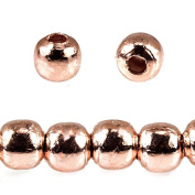 4mm Rose Gold plated Copper Plain Round Beads 8 inch 50 pieces
