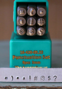 Brand New Supply Guy 3mm Punctuation Metal Punch Design Stamp Set SGCH-PUN