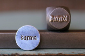 """Brand New Supply Guy 8mm """"Karma"""" Word Metal Punch Design Stamp CH-94"""