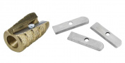Alvin Brass Bullet Pencil Sharpener & Replacement Blades