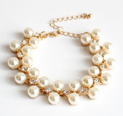 mywaxberry golden alloy dress accessory tiara ring pearls diamonds bracelet