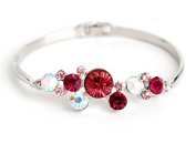 mywaxberry silver alloy dress accessory tiara ring red rhinestones bracelet