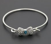 mywaxberry silver dress accessory tiara ring metal hollow bohemia bracelet, diamonds bowknot