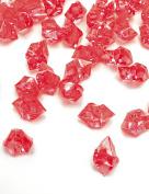 DomeStar 150 Pcs Acrylic Ice Cubes, Red