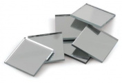 1.9cm Square Glass Craft Mirrors 15 Pieces Mosaic Tiles