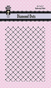 Hot Off the Press Diamond Dots Embossing Folder HOTP6036