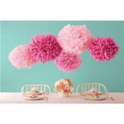 Sorive® 5pcs 2 Sizes Tissue Paper Flowers,Tissue Paper Pom Poms,Wedding Party Decor,Pom Pom Flowers,Tissue Paper Flowers Kit, Pom Poms Craft,Pom Poms Decoration-Sorive