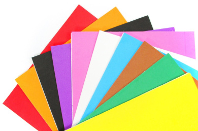 """ALL in ONE Mixed Colour 10pcs Self Adhesive Eva Foam Sheet for DIY Craft 21x30cm (8""""x12"""")"""