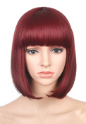 LOUISE MAELYS Straight Short Wig Bob Hair Cosplay Wig Anime Costumes + Wig Cap