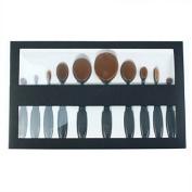 Skuleer(TM)10pcs/set Makeup Powder Brush, Beauty Oval Cream Puff Cosmetic Toothbrush-shaped Foundation Brush
