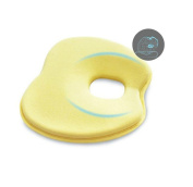 GUAngqi Memory Foam Solidify Cushion Baby Prevent Flat Head Rest Support Pillow Yellow