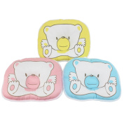 Dianoo Newborn Baby Pillow, Anti-roll Bear Pillow, Flat Head Sleeping Positioner, 3PCS (three colour