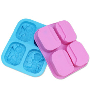 Always Your Chef 4-Cavity Soap Moulds Muffin Cups Angel Shaped Baking Cupcakes Cups, Random Colours, Pack of 1