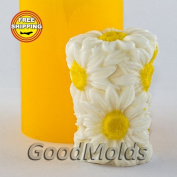Soap Mould The cylinder of daisies Food-grade Silicone Moulds animal Mould Mould for Soap.