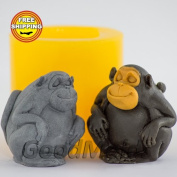 Soap Mould Monkey 2 3D Food-grade Silicone Moulds animal Mould Mould for Soap.