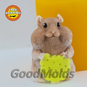 Soap Mould Hamster Food-grade Silicone Moulds animal Mould Mould for Soap.