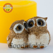Soap Mould Two owlet Food-grade Silicone Moulds animal Mould Mould for Soap.