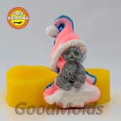 "Soap Mould Kitten ""Handmade"" Food-grade Silicone Moulds animal Mould Mould for Soap."