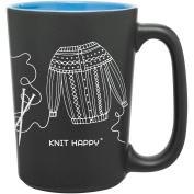 Knit Happy Scribbles Mug 300ml-Blue