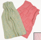 """Fast Baby Blanket"" Knit Kit with Encore Worsted Yarn - BABY PINK"