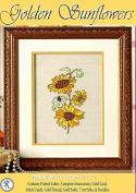 Golden Sunflowers - Rajmahal Sadi Metal Thread and Art Silk Kit