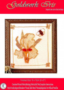 Goldwork Iris - Rajmahal Sadi Metal Thread and Art Silk Kit