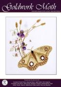 Goldwork Moth - Rajmahal Sadi Metal Thread and Art Silk Kit