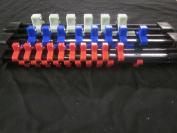 3pc DOUBLE SIDED 0.6cm 1cm 1.3cm ABS SOCKET BALL CLIPS TRAY RAILS RACKS HOLDERS