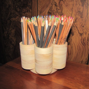 7 Cup Studio Rotating Coloured Pencil Storage Holder Organiser, Holds 200+ Pencils, Cosmetic Makeup or Paint Brushes