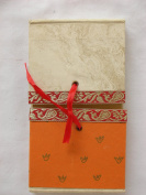 Handmade Journal with Handmade Paper and Colourful Cover with Old Fashioned Closure