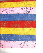 Handmade Journal with Handmade Paper colourful painted cover