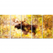Digital Art PT2454-401 Magnificent Moose Animal Canvas Art