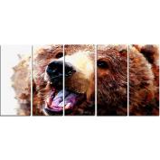 Digital Art PT2338-401 Happy Brown Bear Large Animal Canvas Art