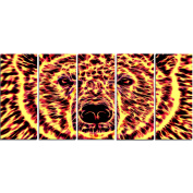 Digital Art PT2360-401 Psychedelic Bear Large Animal Canvas Art