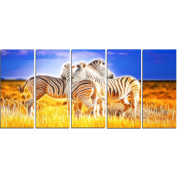 Digital Art PT2442-401 Zebra Duo on Canvas Animal Canvas Art