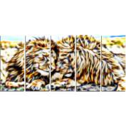 Digital Art PT2422-401 Soul Mates Lion Large Animal Wall Art