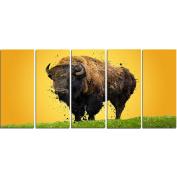 Digital Art PT2326-401 Lone Bison Large Animal Canvas Art