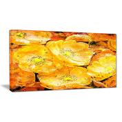 Digital Art PT3437-32-16 Orange Yellow Flower Bouquet Floral Canvas Art