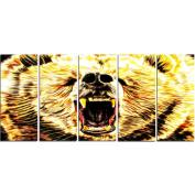 Digital Art PT2356-401 Brazen Bear Large Animal Canvas Art