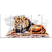 Digital Art PT2359-401 Captivating King Large Animal Canvas Art